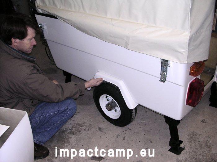 Mini Camp vouwwagen compleet met spatborden