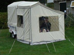Mini Camp met voortent en bagagetent