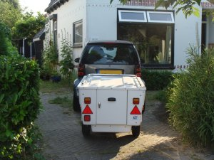 Smart met aanhangwagen